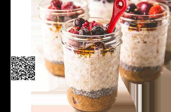 Overnight Chia Oats Nut Butter Foodie Body Bioinformatics